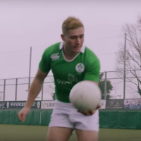 WATCH: Rugby Meets GAA as Ireland U20s Take The #FutureIsGreen Challenge